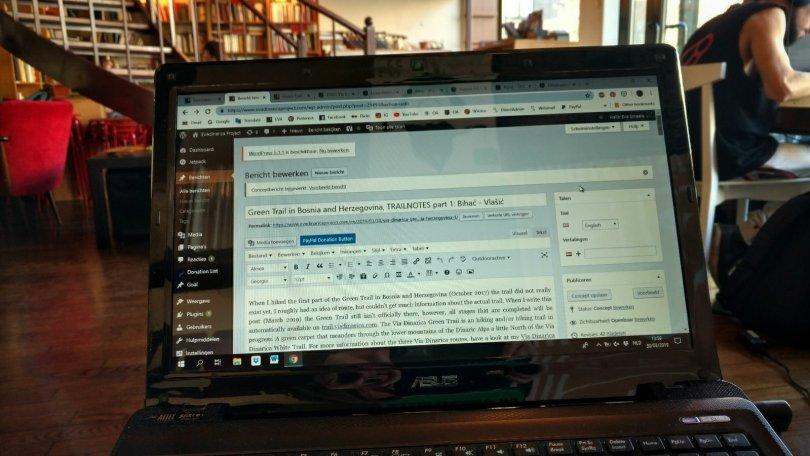 Writing a new blogpost in Booksa