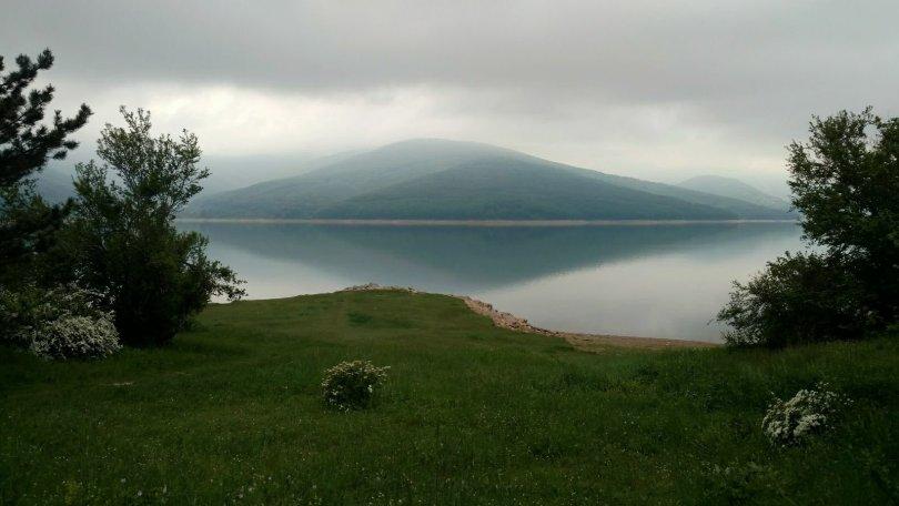 Lake Mavrovo in the morning