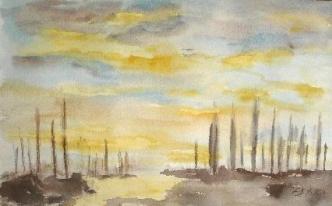 Stavoren, 2007, mit Passepartout und Rahmen, 50 x 70 cm