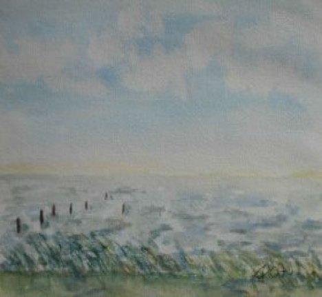 an der Ostsee, 2007, mit Passepartout und Rahmen, 40 x 50 cm