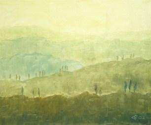 Toscana III, 2002, Öl auf Leinwand, 38 x 45 cm