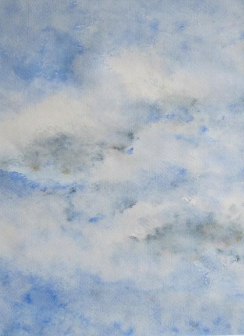 Himmel, 1995, mit Passepartout und Rahmen, 40 x 50 cm