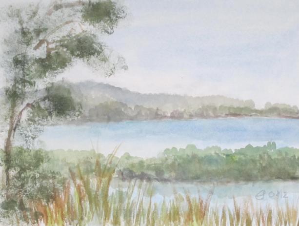 Orbetello, 2012 mit pPassepartout und Rahmen 40 x 50 cm