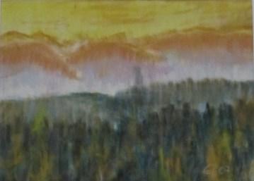 Morgennebel, 2007, mit Passepartout und Rahmen, 40 x 50 cm
