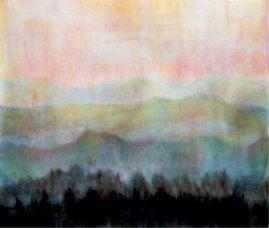 Morgenrot, 2002, mit Passepartout und Rahmen, 40 x 50 cm