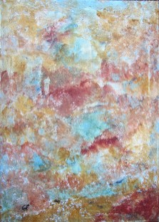 Marmor I, 2016, Powertex mit Farbpigmenten, Leinwand, 50 x 70 cm