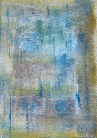 Frühlimgerwachen, 2018 Acryl auf Karton 21 x 29 cm