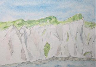 Rügen Kreidefelsen, 2008 Aquarell, mit Rahmen und Passepartout 30 x 40 cm