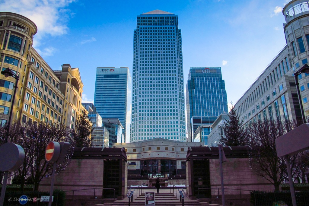 Sky scrapers in London   Canary Wharf