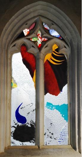 « Psaume 19 »,Notre Dame de Chamblac (Eure) (verrier : Eric Boucher)