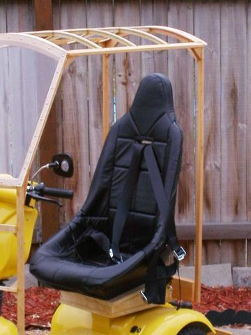 Ultralight Aircraft Seat And Harness