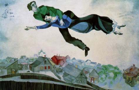 Marc Chagall Sopra la citta