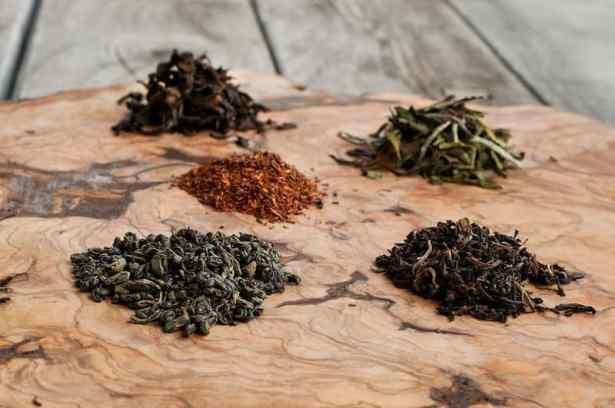 Selección de tés para elaborar kombucha