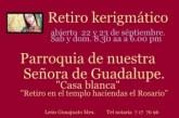 Retiro kerigmático abierto en la parroquia de nuestra Señora de Gudalupe