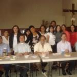 Convivio con servidores de la parroquia de San Pío X.