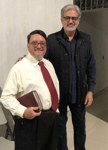Pastor Robert Aldana with Ramirez