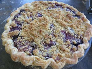 pie-a-day, blackberry pie, quark