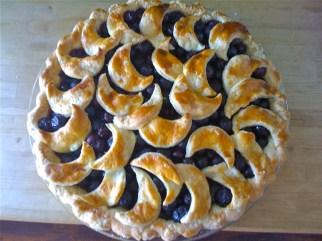 pie, pie-a-day, kcrw, blueberry pie