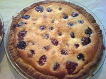 pie-a-day, kcrw, cherries, clafoutis
