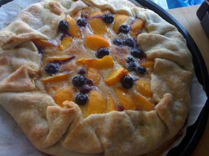 peach galette, pie-a-day, kcrw