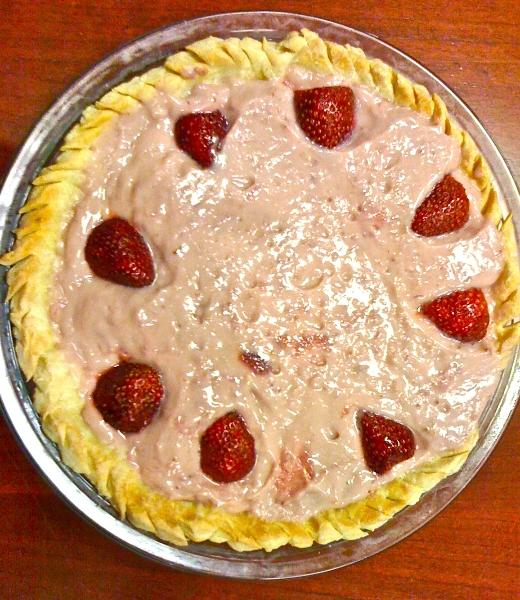 strawberry pie, pie-a-day, kcrw