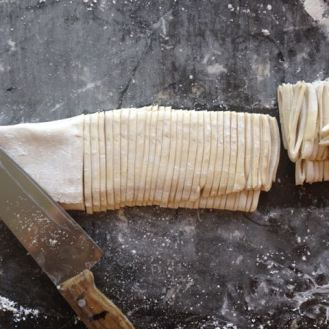 knife cut noodles create great edges
