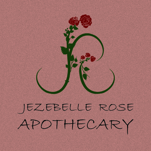 logo design for jexebelle rose apothecary