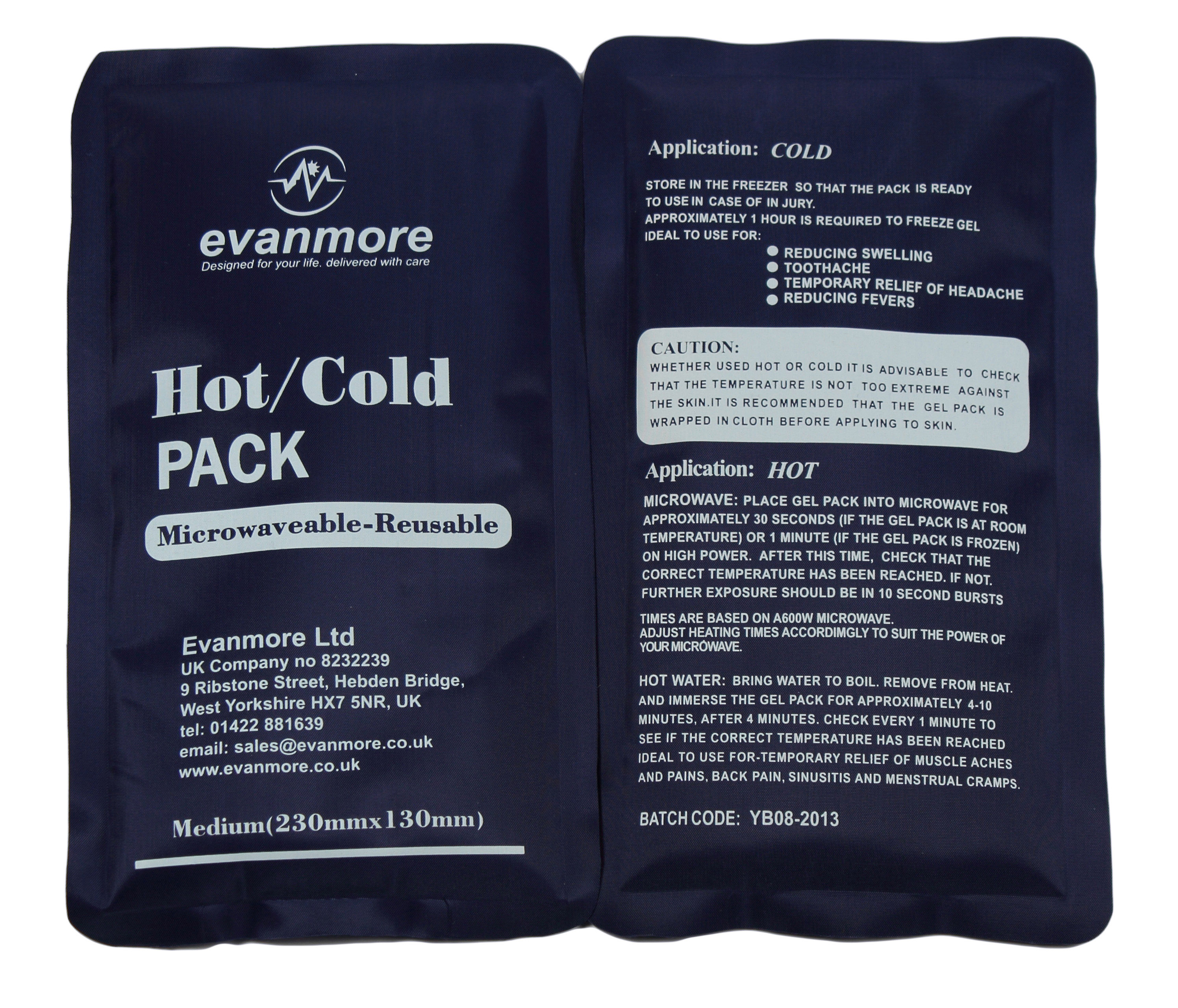 2 x reusable hot cold packs