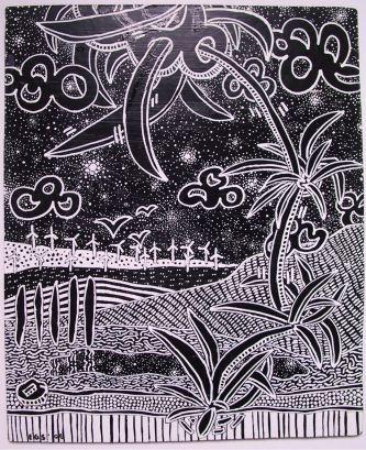 B&W - Fifth in Black Boards series by E.G.Silberman, 2006