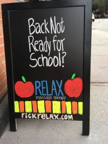 Relax - Back Not Ready For School? - Evan Silberman NYC