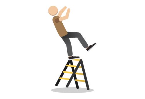 chute de hauteur