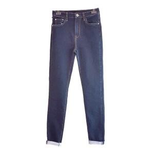 jeans a sigaretta in denim blu scuro