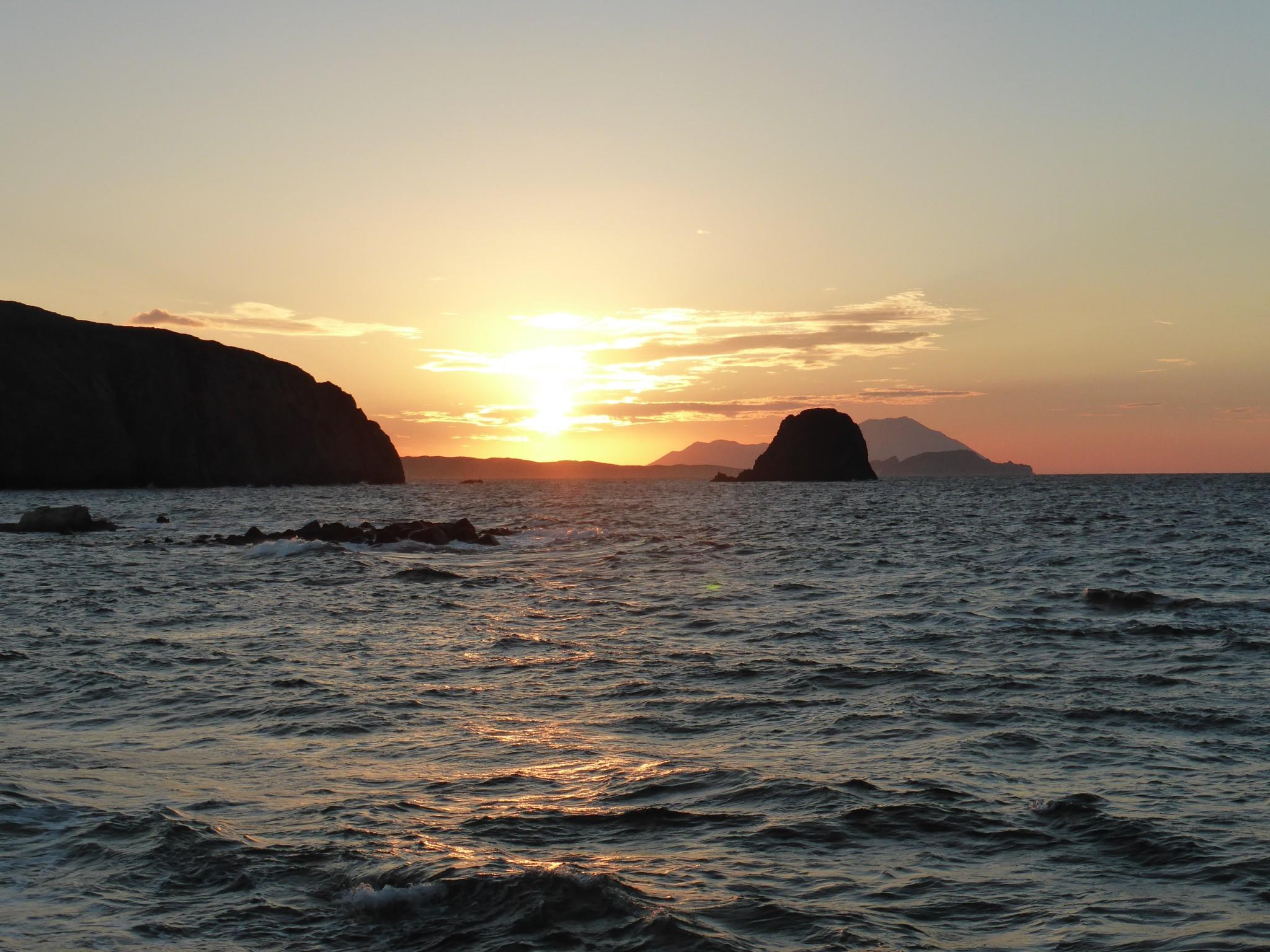 coucher de soleil milos