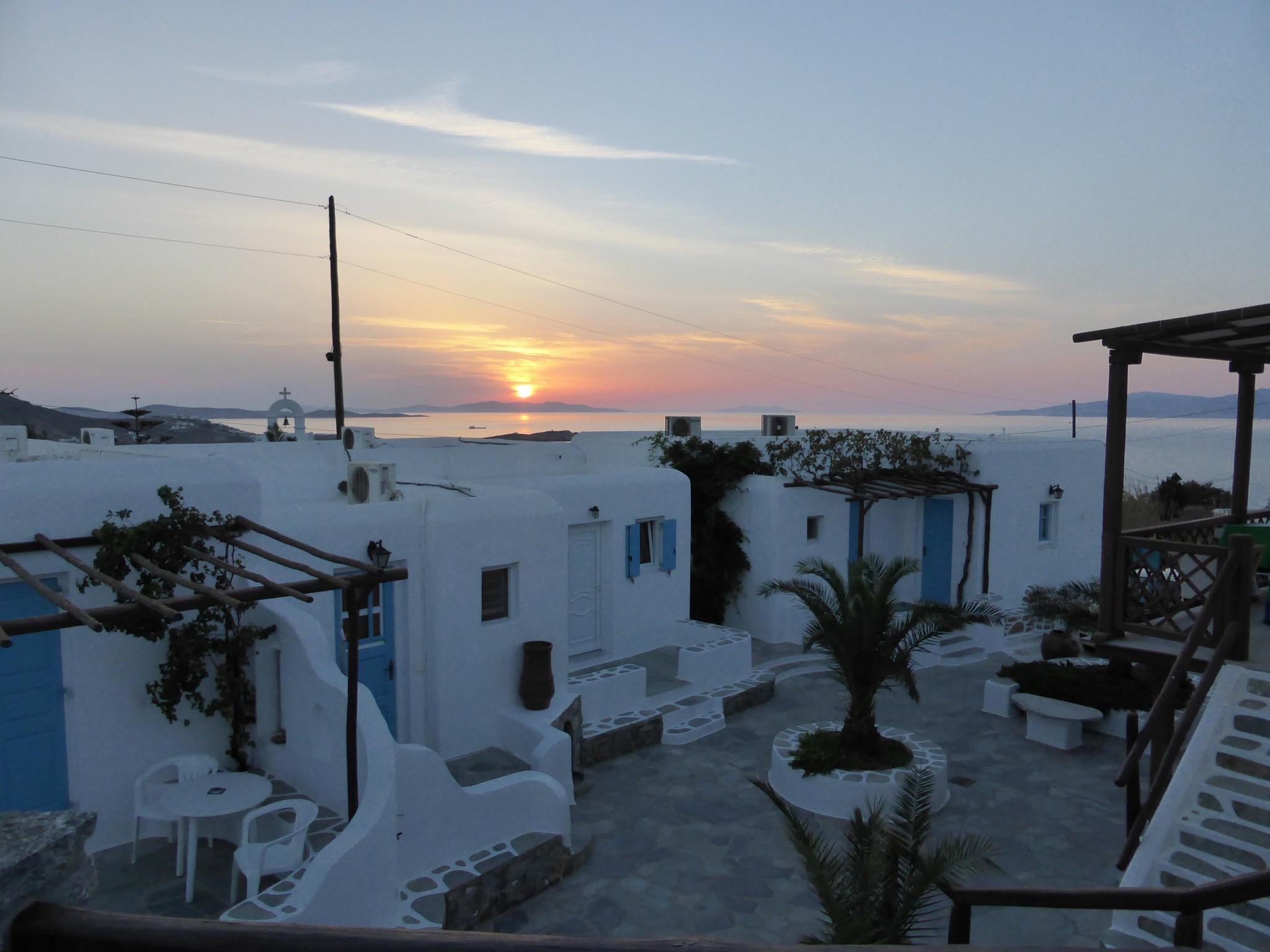 coucher soleil mykonos