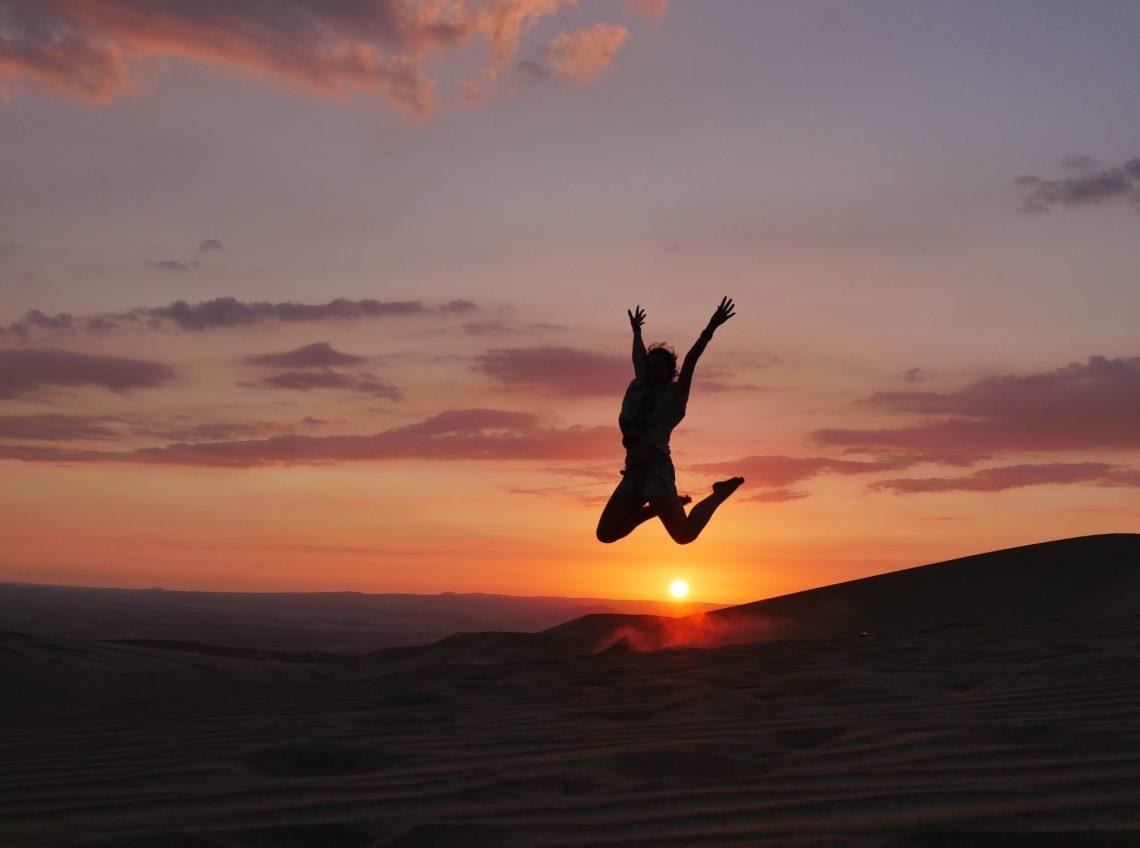coucher soleil huacachina
