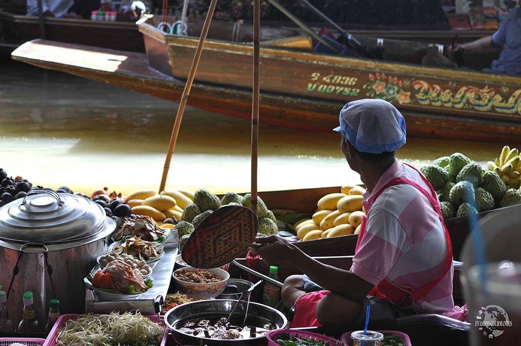 Marché flottant Voyage en Thailande