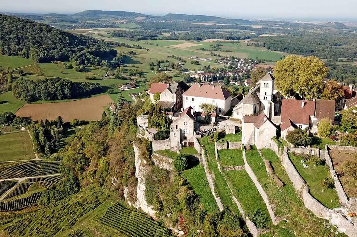 Chateau Chalon drone