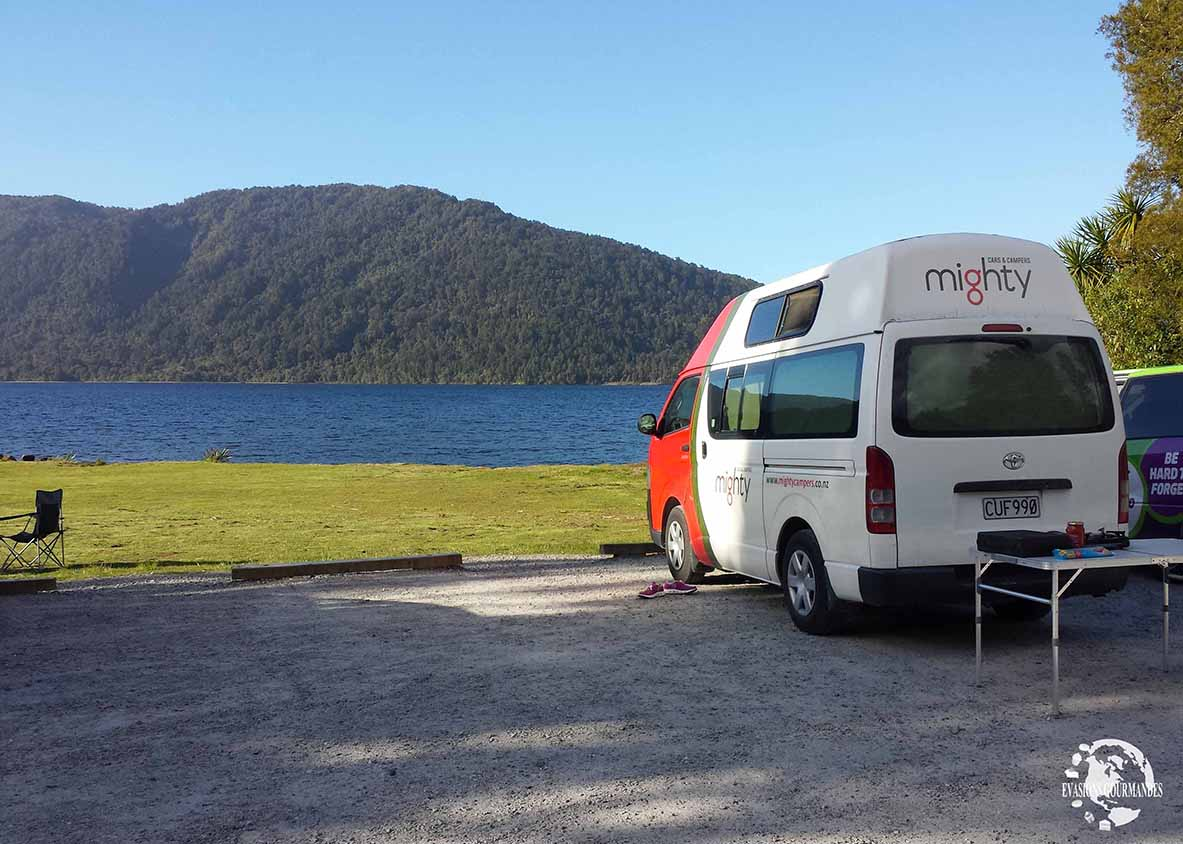 road trip en van Nouvelle Zélande