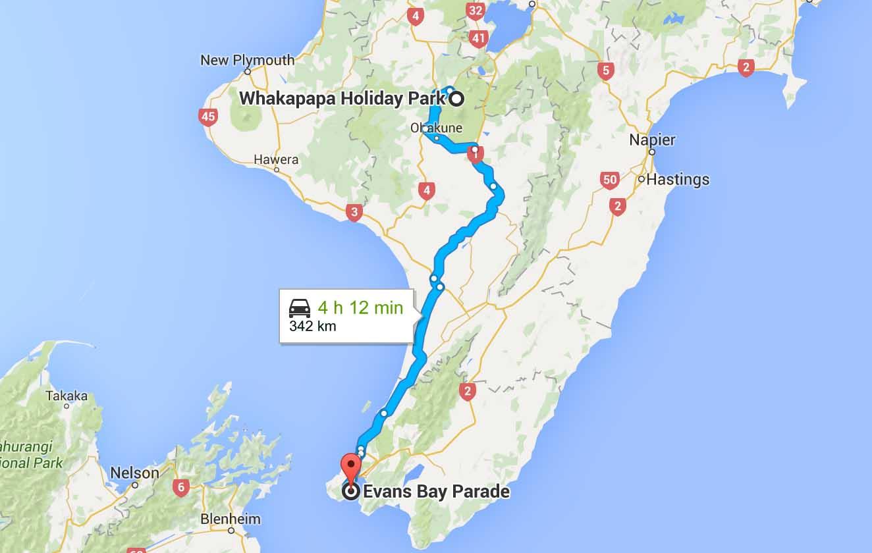 itinéraire Wellington