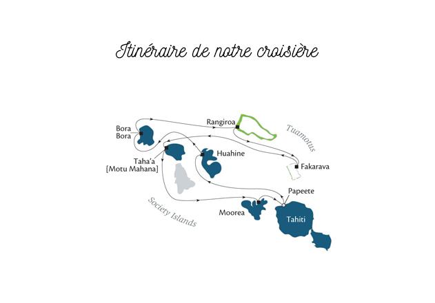 Itinéraire croisière Polynésie