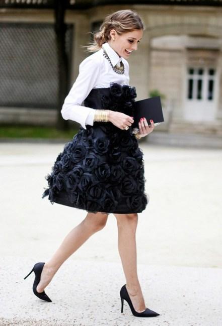 button-down-shirt-with-Little-black-dress