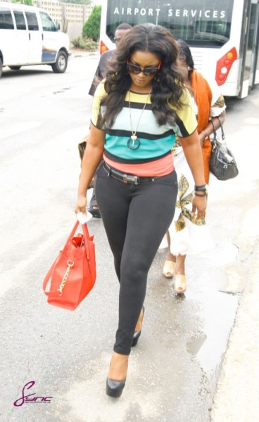 OMOTOLA stylishly land in Bayelsa for MBGN 2013.