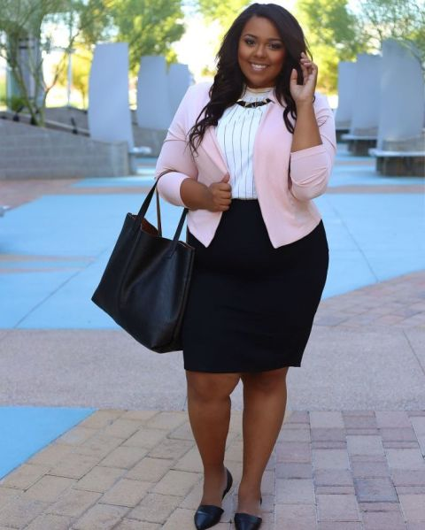 ce1829a5ab152 Plus Size Work Wear Outfit To Try - Evatese Blog