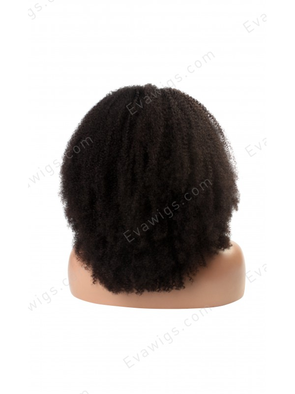 Natural Afro Kinky Curly Human Hair Full Lace Wig Curly