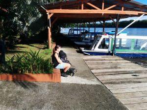Tortuguero - wachten op de watertaxi