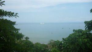 Uitzicht vanaf balkon Drake Bay