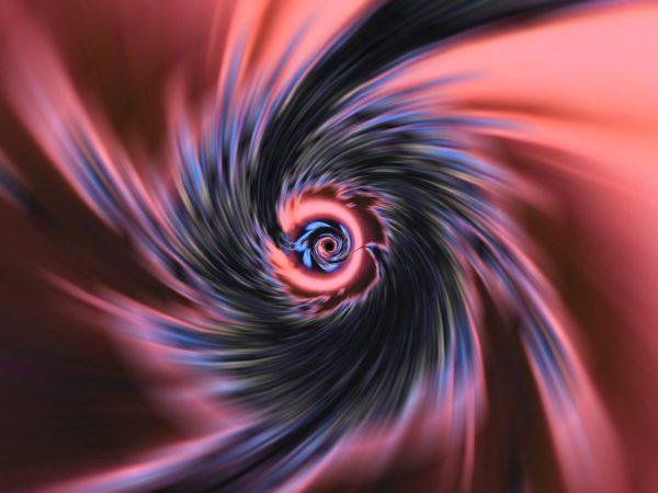La téléportation - spirale trou de verre
