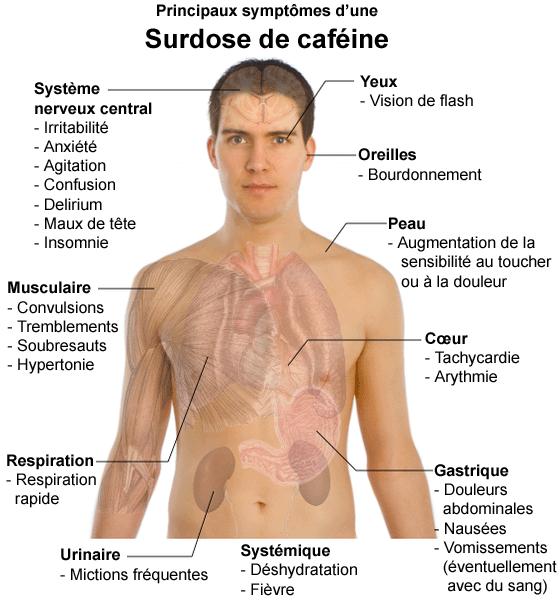 6_Coca-Cola une boisson dangereuse et cancérigène - Principaux_symptômes_dune_surdose_de_cafeine