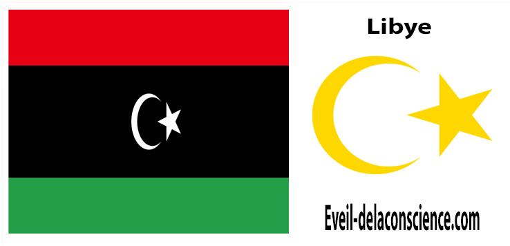 La Libye - drapeau et sceau