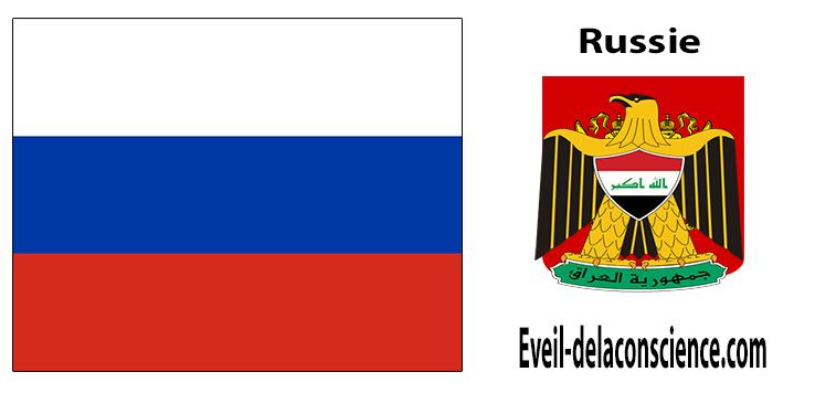 Russie - drapeau et sceau